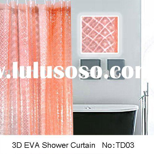 Eco -friendly Contemporary 3D EVA extra long shower curtain