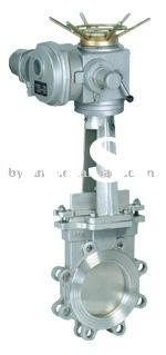 Electric actuator knife gate valve/carbon steel knife gate valve/ stainless steel knife gate valve