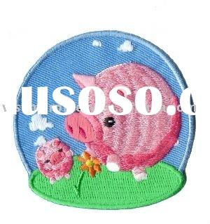 Embroidery Pig Patch for textile