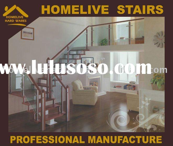 Fashion concise household stainless steel clip wooden keel stairs