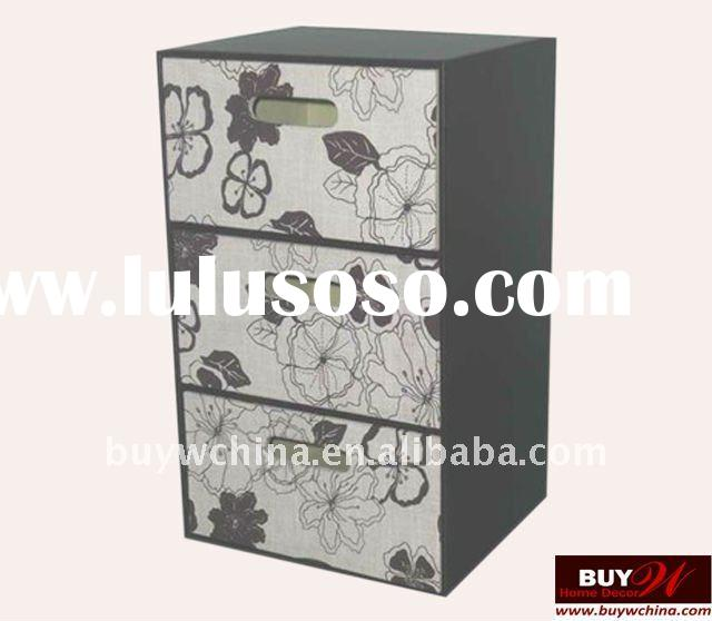 Faux leather storage cabinet chest of drawers