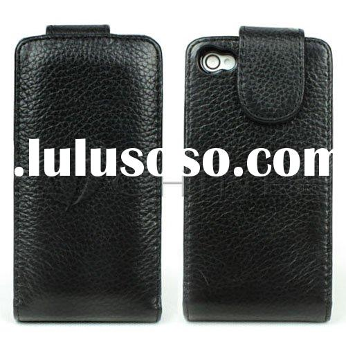 Folio style Genuine leather case for iPhone 4