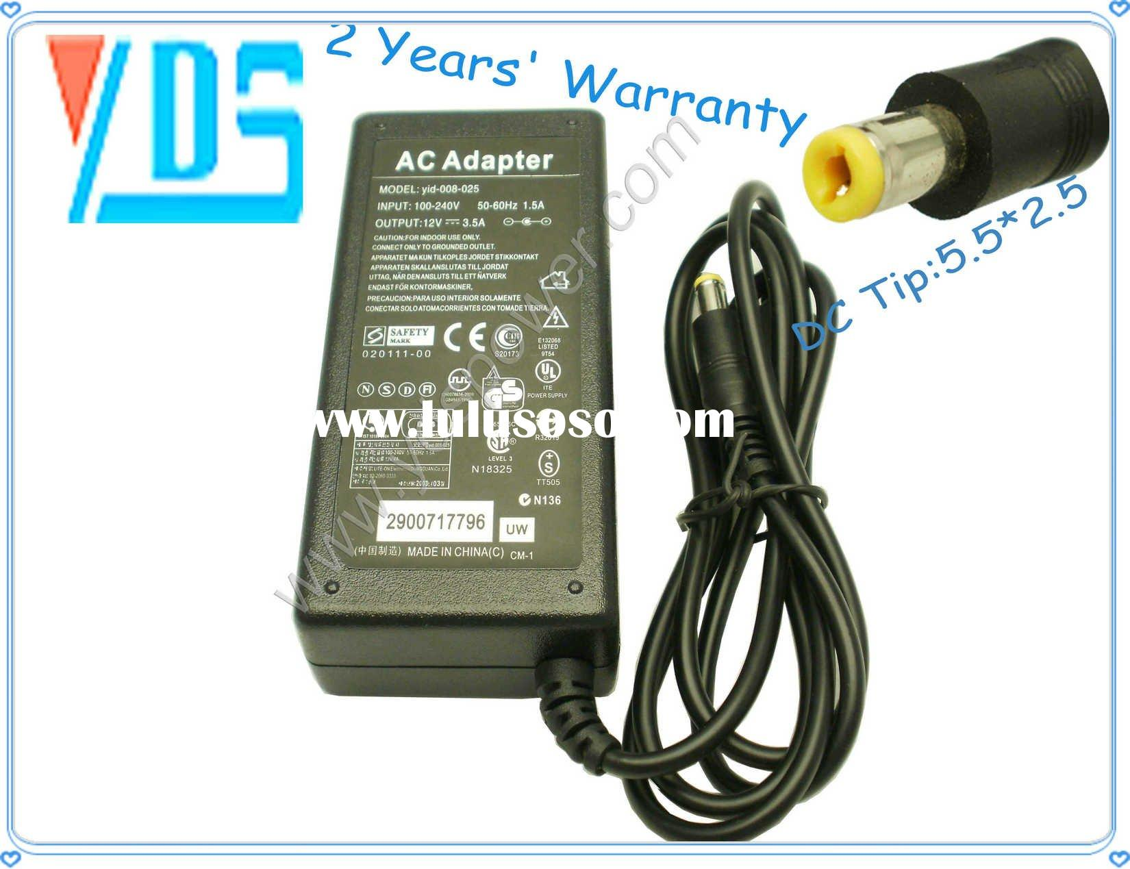 For All AC Adapter 12V 3.5A with DC Tip 5.5*2.5