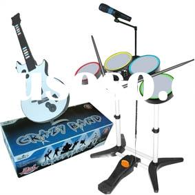 For WII/PS2/PS3/3in1 crazy band drum wii accessory,video game accessory, video game drum kit, for wi