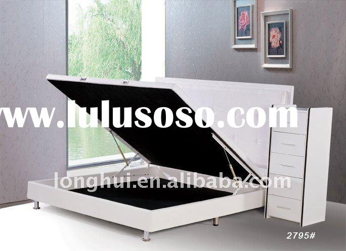 Foshan golden storage bed gas lift bed headboard bed