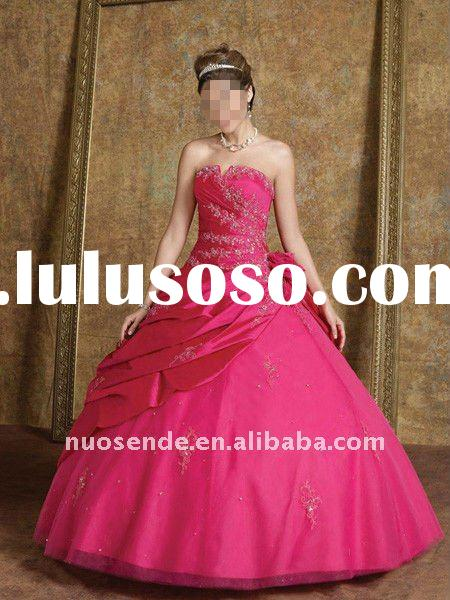 Free Shipping Teenage Prom Dresses 2011 new model wedding dress Strapless Quinceanera Dress