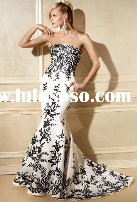 Full Embroidered 395 Satin Mermaid Prom Dress Lily108