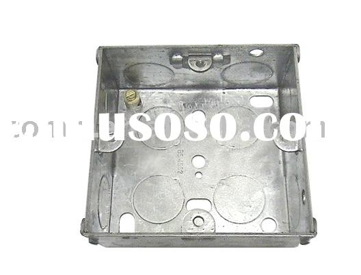 G.I. box,socket box,junction box, switch box,metal box, G.I. conduit box,1-gang, outlet box (BS 4662
