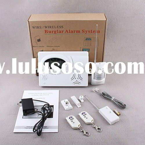 HOT On Sale LCD display SMS pstn gsm alarm auto dial alarm system voice alarm wireless