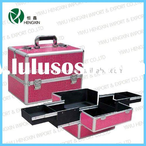 HX-C4534,Aluminum professional makeup case/bag,cute makeup bags,cosmetic bags cases set,cute design