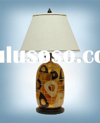 Hand painted procelain lamp with shade,porcelian table lamp, table light, decoration table light