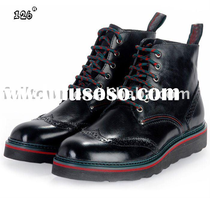 High quality shoes,Genuine leather shoes,higt cut shoes,#40-46