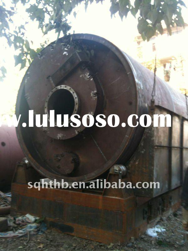 Horizontal rotation continuous waste tire and plastic recycling equipment