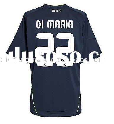 Hot! Real Madrid 10-11 Away Soccer Jersey With Sublimation Print