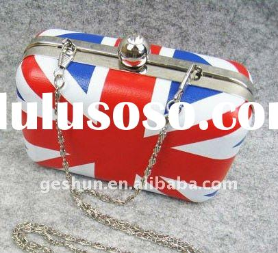 Hot UK FLAG EVENING BAGS,Promotional British flag hardcases,Customized Clutch bags