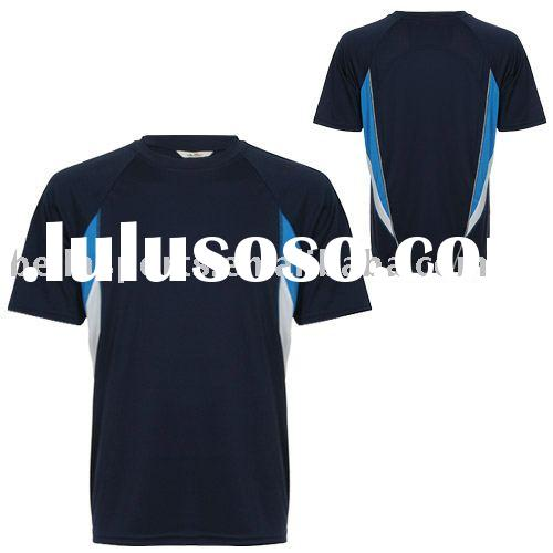 Hot style 2011-12 of Men's sports t shirts with quick dry fabric