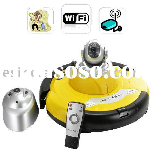 Intelligent Robot Vacuum Cleaner with Wireless IP Camera