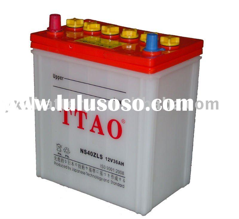 JIS 12V36AH Dry Charged Automotive starter lead acid battery