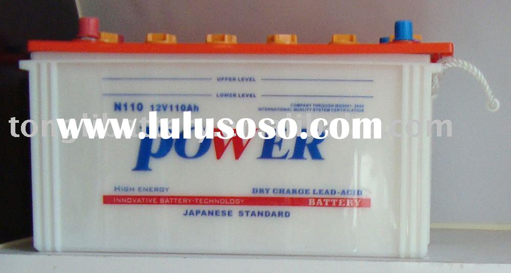 JIS standard dry charge car battery 110AH/12V