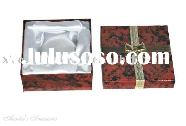 Jewelry Gift Box with foam inside and ribbon cover