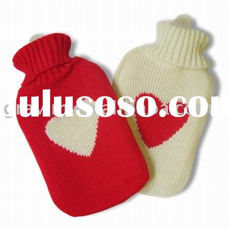 Knitted Cover Rubber Hot Water Bottle