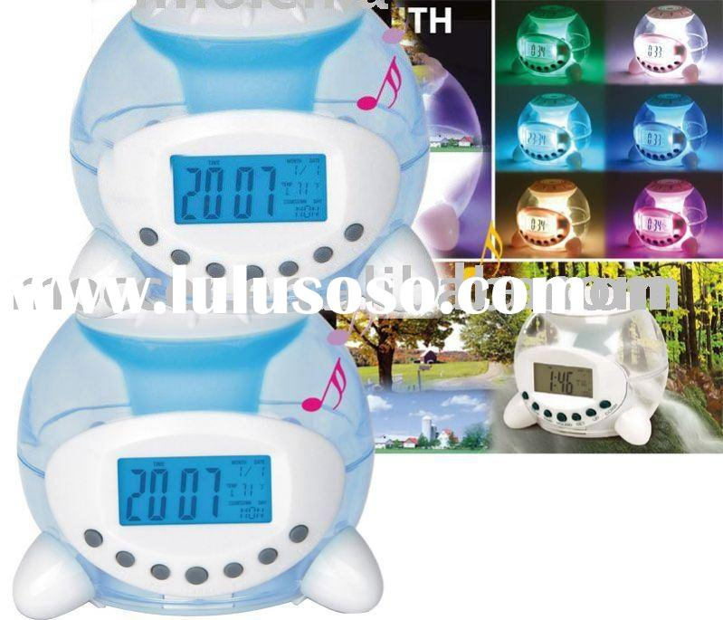 LCD alarm clock with Color change and Nature sound