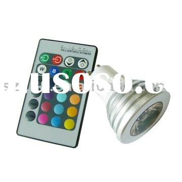 LED Color Changing Light With Wireless Remote LED Bulb
