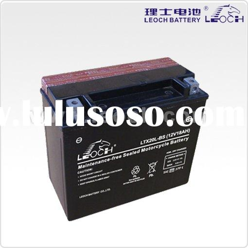 LEOCH Dry Charged Motorcycle Battery with 18Ah Capacity and 12V Nominal Voltage,size:175*87*155mm