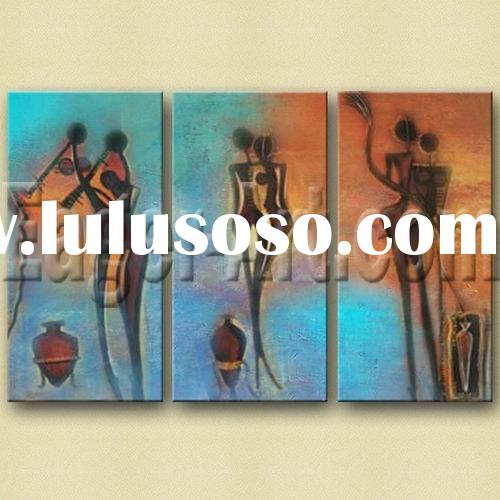 Latest decorative Abstract people painting for home decoration