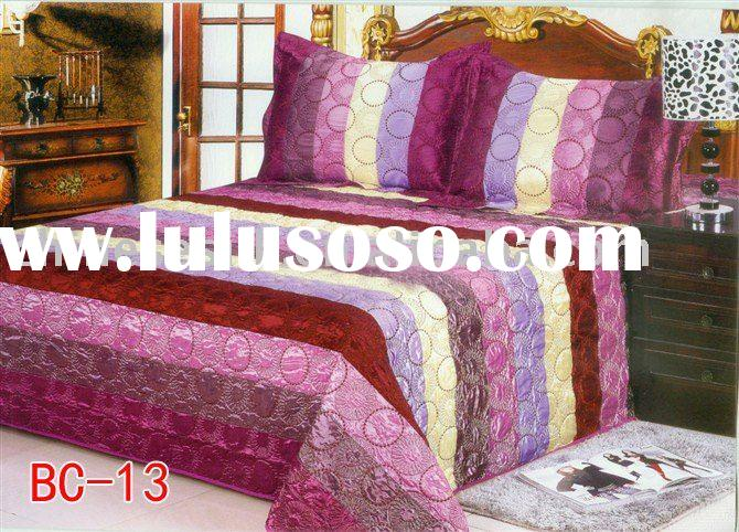 Man-made silk Bedding Fabric, Satin Bedding Fabric, Bed Cover, OEM service