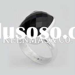Men black onyx 925 solid sterling silver ring