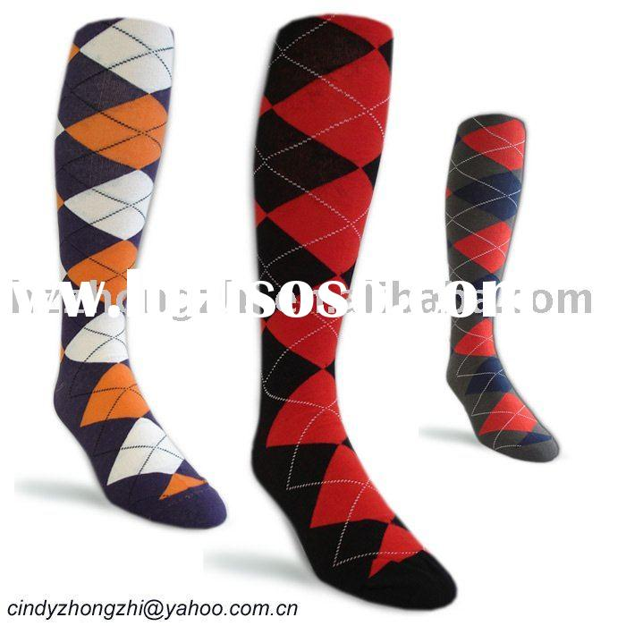 Men's Over The Calf Argyle socks