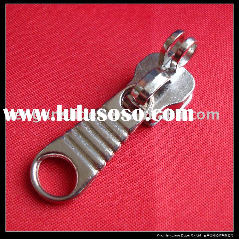 Metal slider for metal zipper and nylon zipper