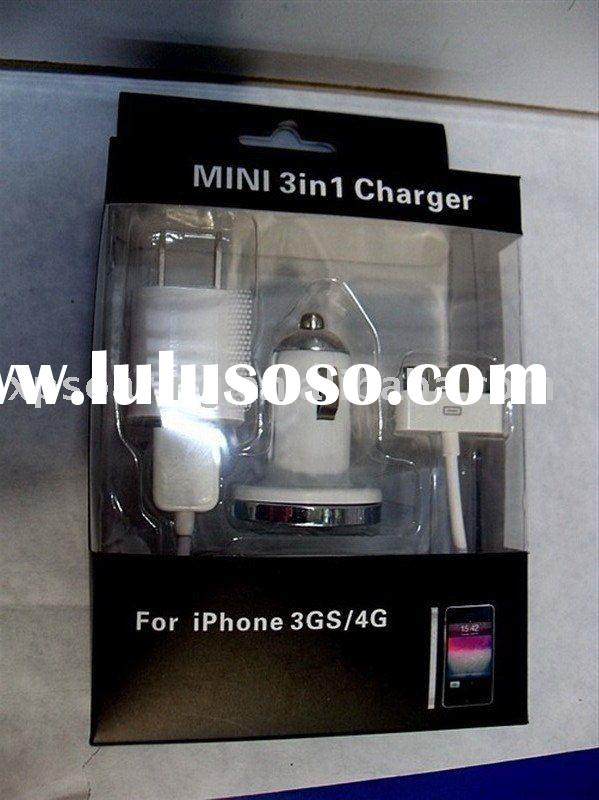 Mini 3 in 1 portabel car charger for iphone 3G,3GS, 4G