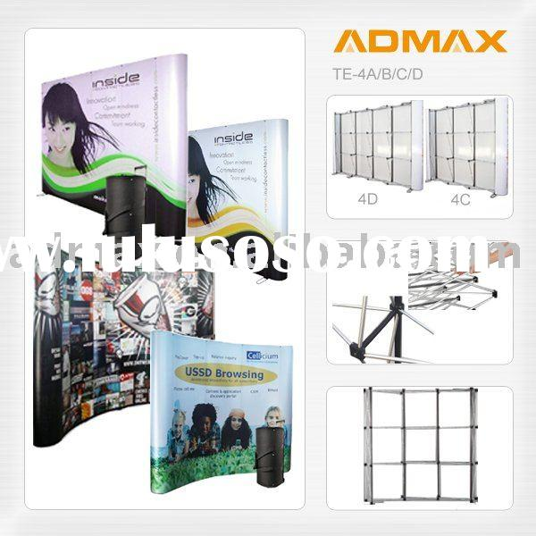 Mobile Portable Classic Pop up Banner Stand Backdrop for Event Promotion with Trolley Case
