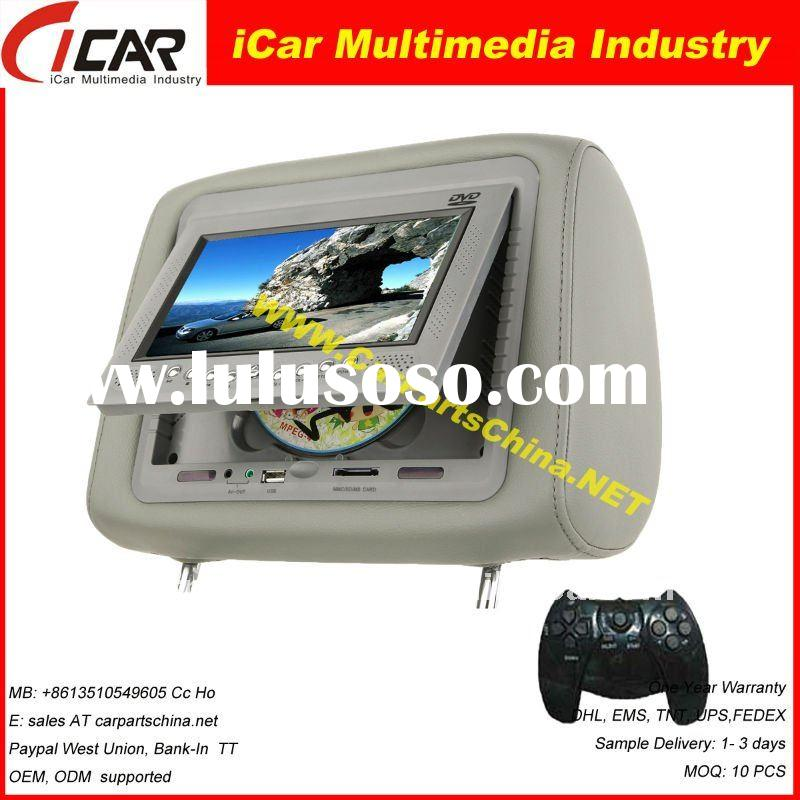 Model: 21V7 Headrest Car DVD Player with USB/ SD slot, Game system 7 inch headrest car dvd player wi
