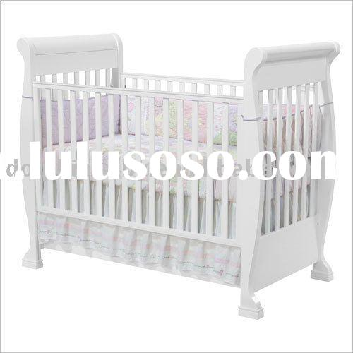 Modern Baby Crib With Drawer, wooden baby cot bed, baby furniture