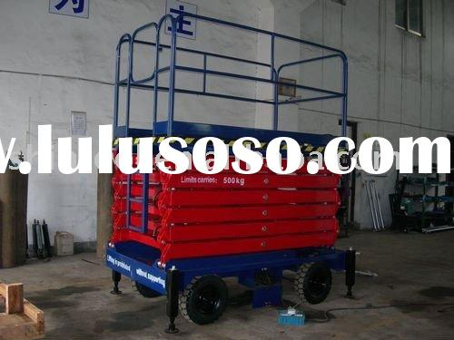Movable aerial work platform truck with four tyres
