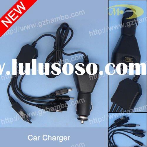 Multi plug car charger for mobile phone travel charger