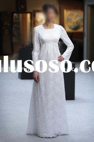 Muslim wedding dress , muslim wedding gown 2405