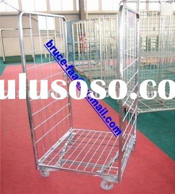 Nestable shopping cart/mesh cage trolley