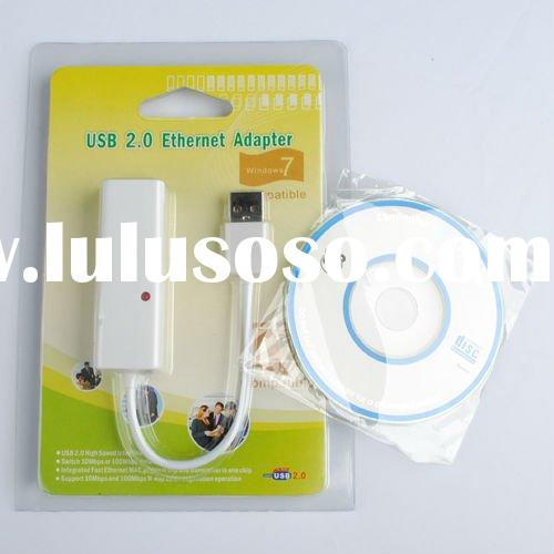 New USB 2.0 Ethernet 10/100 RJ45 Network Lan Adapter Card Win7#8247