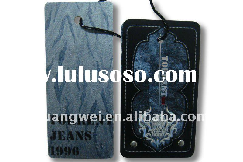 Newly style paper hang tag for fashion garment