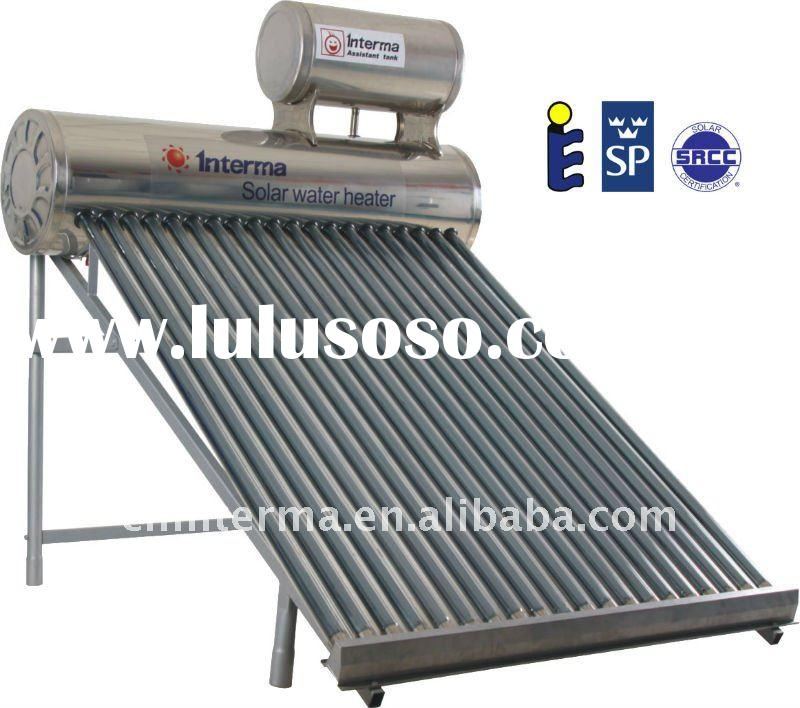 Non-pressurized solar water heater with assistant tank