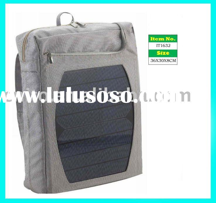 OEM Solar Products Power Laptop Shoulder Bag for charging computer and mobile phone