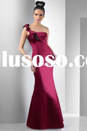 One shoulder mermaid Ladies dress for 2011 bridesmaid dress manufacturer/factory 134