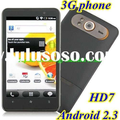 Original HD7 3G Phone Android 2.3 Mobile Phone with GPS WIFI 5.0 M Camera 4.3 '' Cap