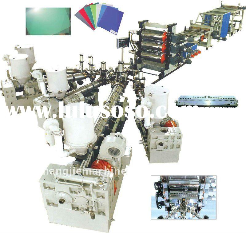 PE/PP/PS/ABS/PMMA/PC plastic sheet/board extrusion production line