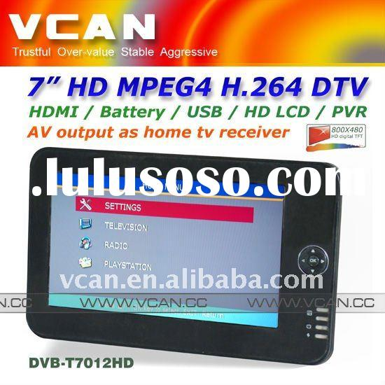 "PVR 7"" HDTV DVB-T HD tuner with monitor digital mpeg4"