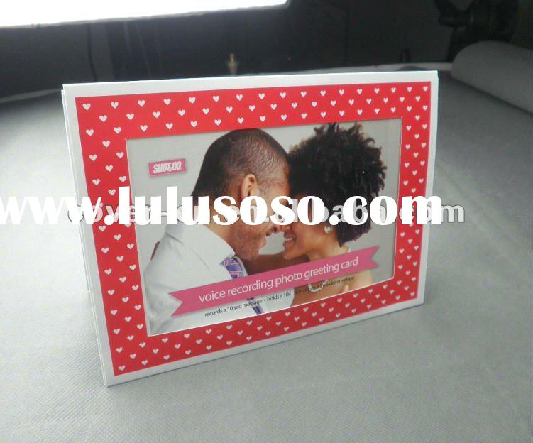 Paper Greeting Cards with Photo Frame for Birthday, Wedding Invitation and Christmas Gifts